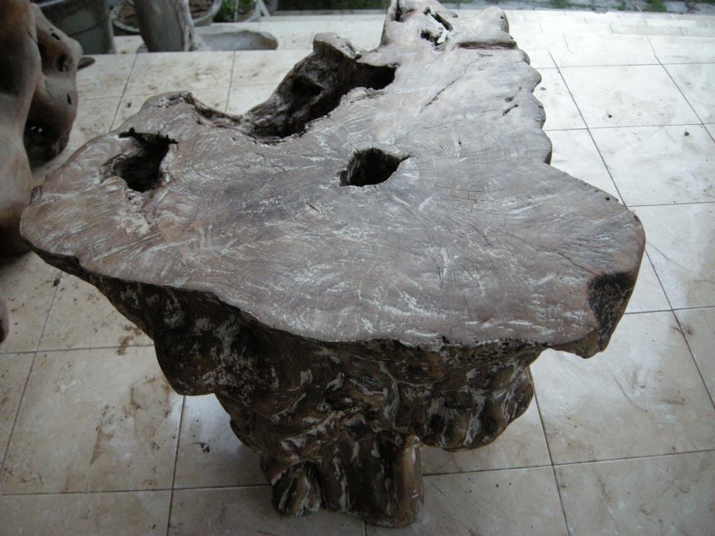 Indogemstone Tree Stump Table