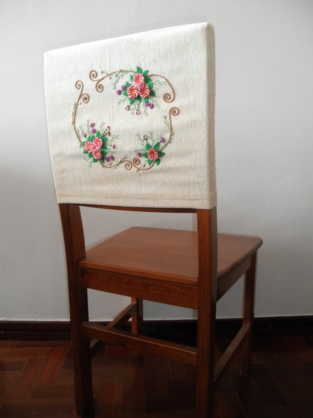 ... To Make This Simple Chair Back Cover Quite Some Time Ago, I Simply  Wanted To Put Some Embellishment I Hadnu0027t Really Thought About The  Embroidery Design, ...