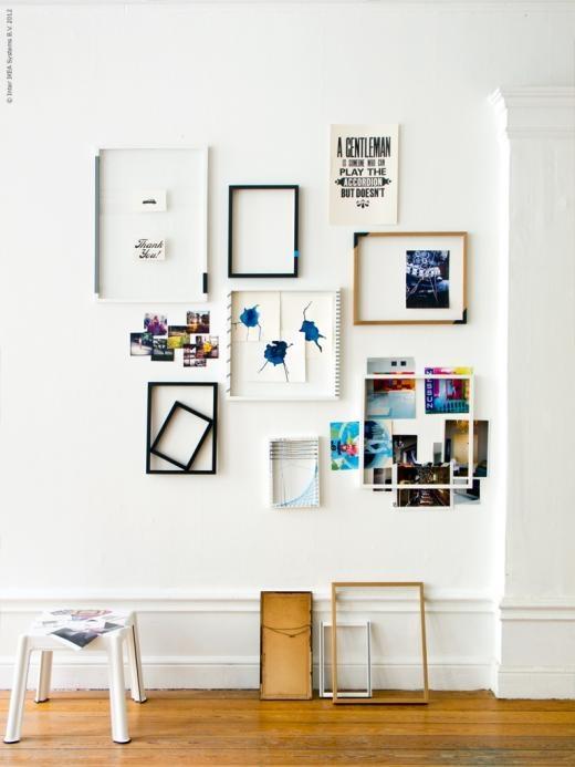 Коллаж из фото своими руками на стене 62