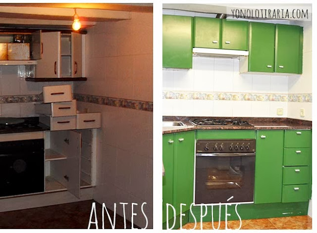 Mi cocina antes y despu s argh yonolotiraria - Pinturas para muebles de cocina ...