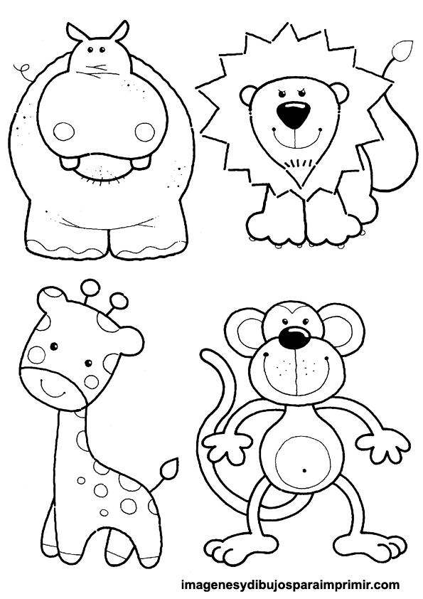 Animales infantiles para colorear