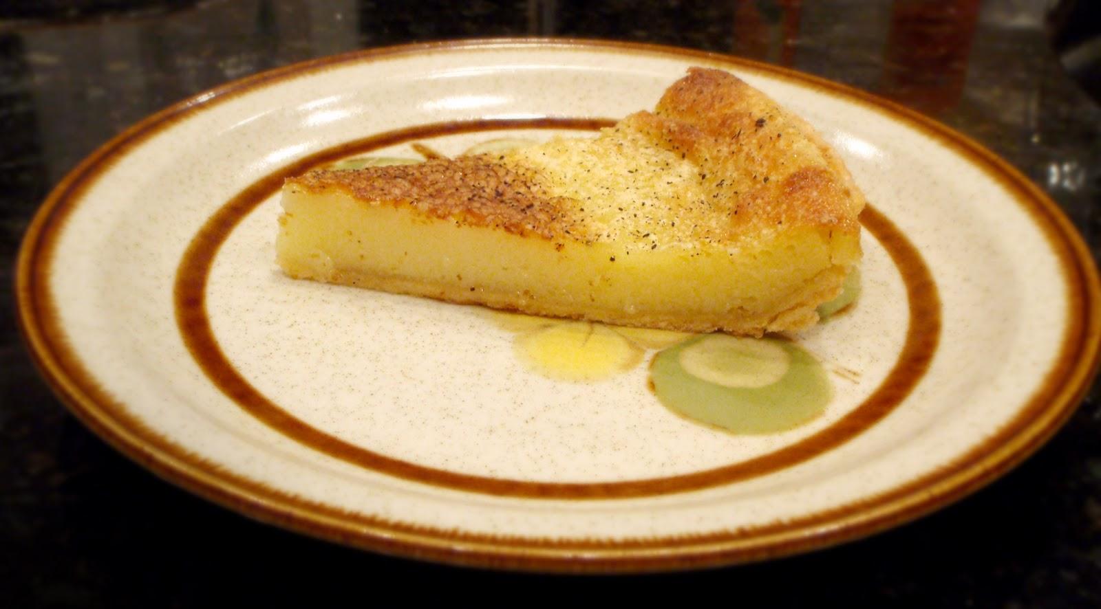Another Brisket Creation: Egg Custard Pie