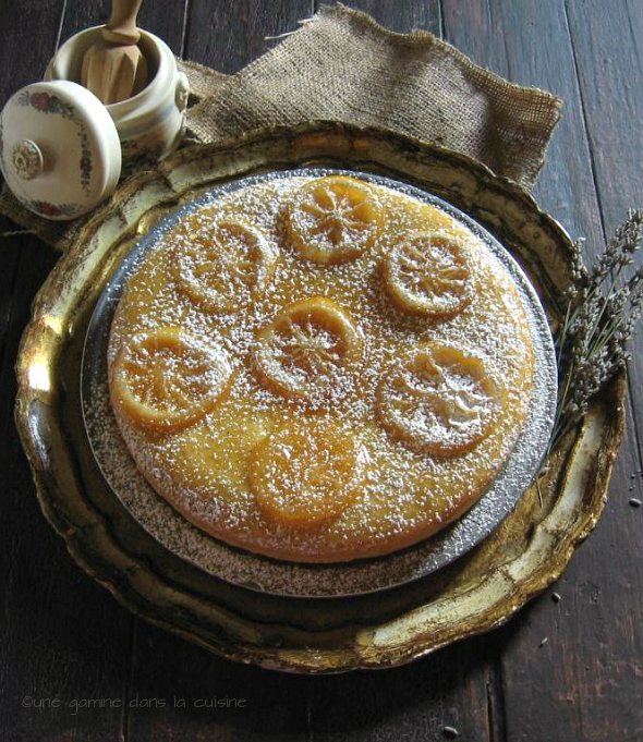 Une Gamine Dans La Cuisine Lemon Cornmeal Cake With