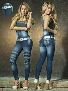 calça alta jeans