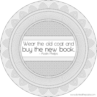 Wear the old coat and buy the new book quote
