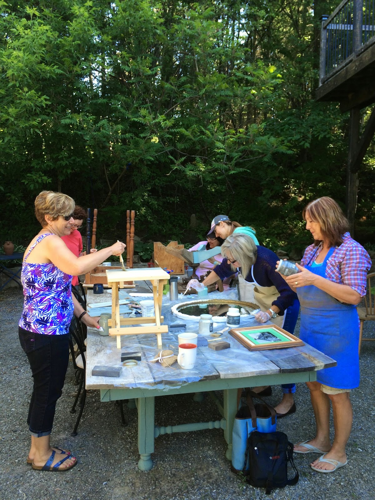 Bluestone house this weekend chalk painting class for Bluestone house
