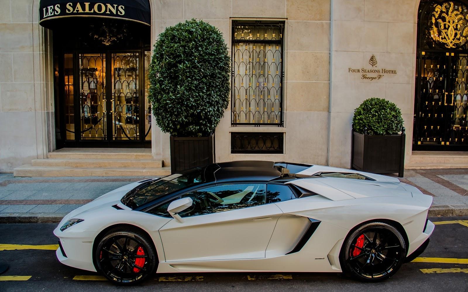 White Lamborghini Aventador Autos Y Motos Fascinantes