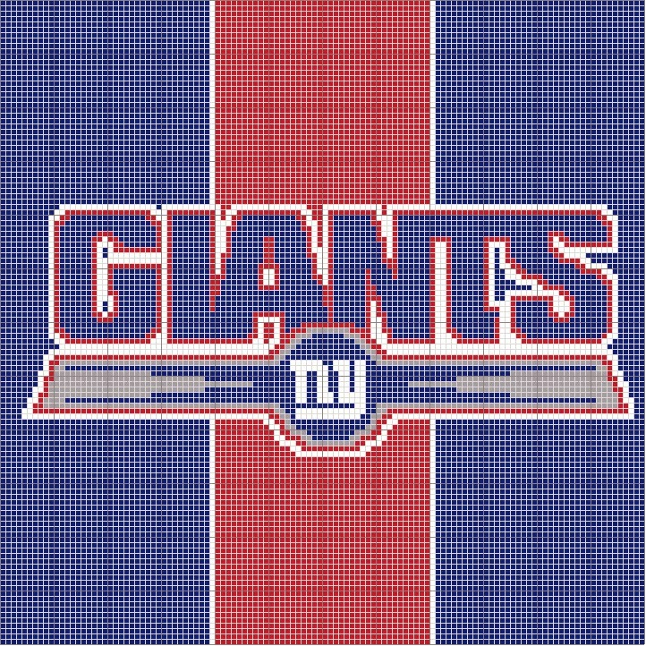 Kendras Crocheted Creations New York Giants Afghan Pattern Graph