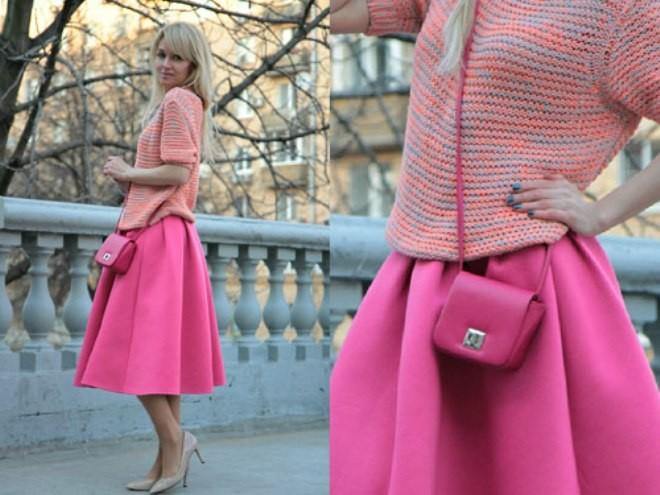 Những xu hướng mix đồ với chân váy midi đơn sắc