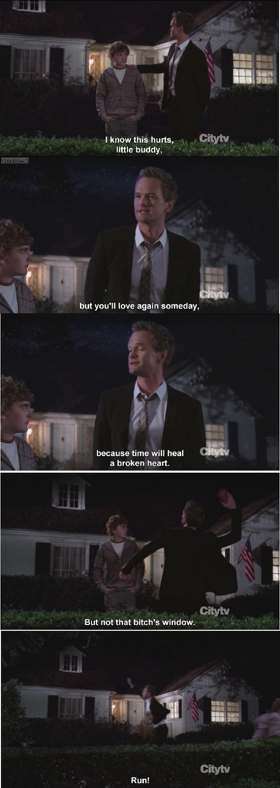 Awesome Barney Gives Advice To Heart-Broken Kid!