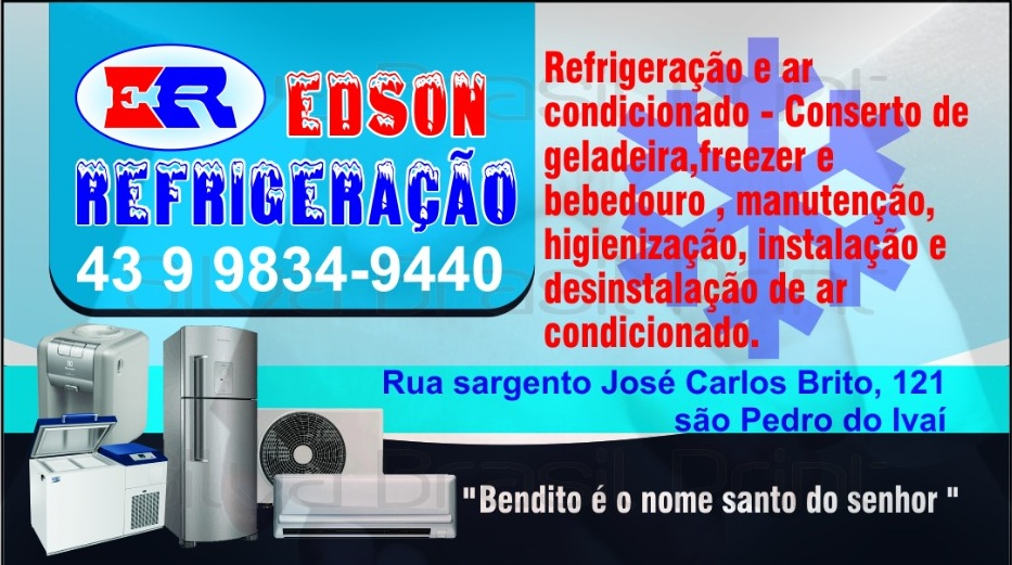 REFRIGERAÇÃO ER EDSON EM SÃO PEDRO DO IVAÍ 08/11
