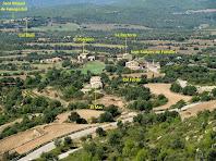 Sant Sadurní de Fonollet i els seus voltants des del Serrat de la Madrona
