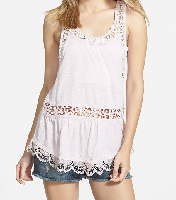 Spring - Summer style - Sun & Shadow lace tank
