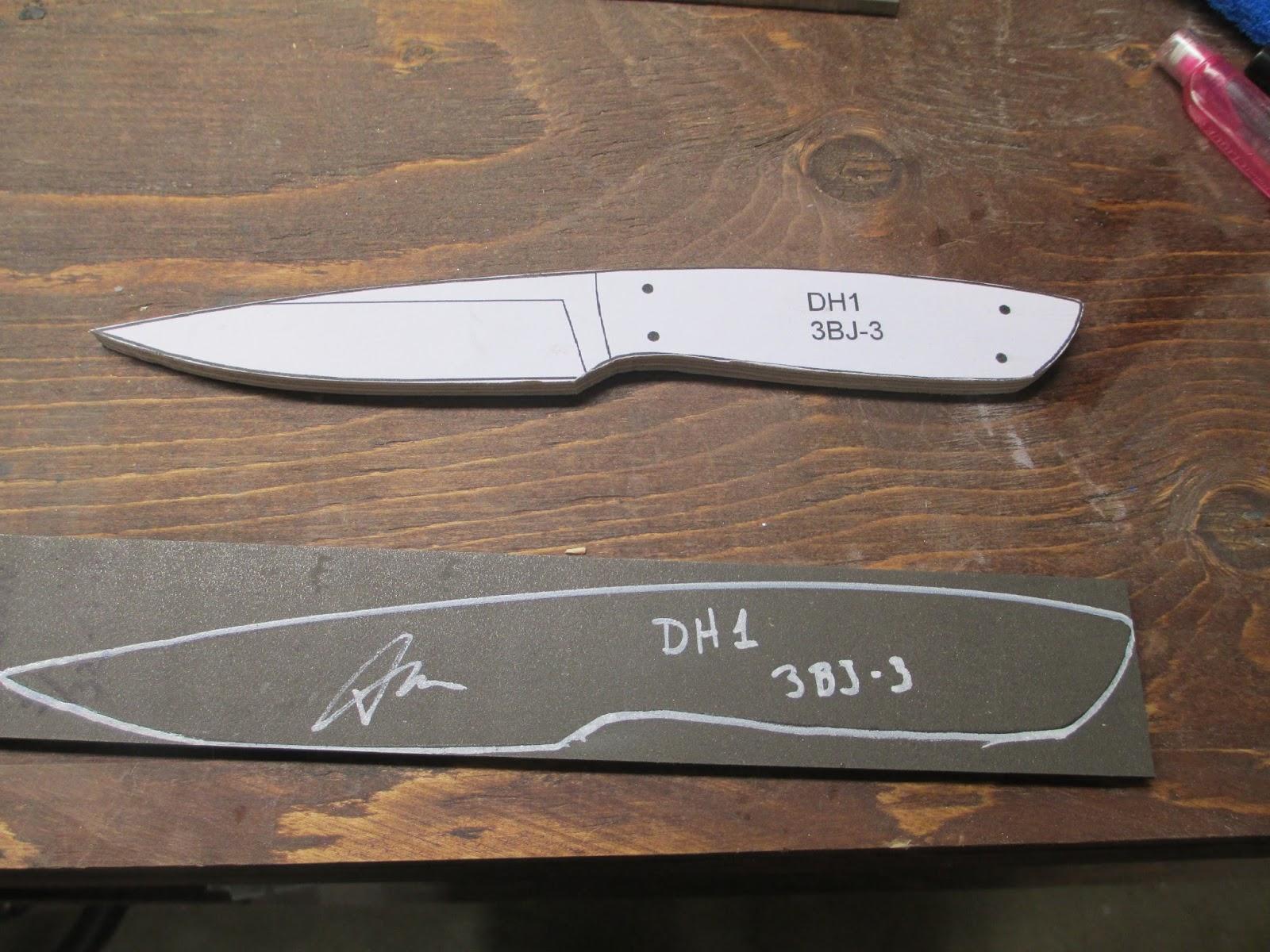 diy knifemaker 39 s info center dh1 drop point hunter. Black Bedroom Furniture Sets. Home Design Ideas