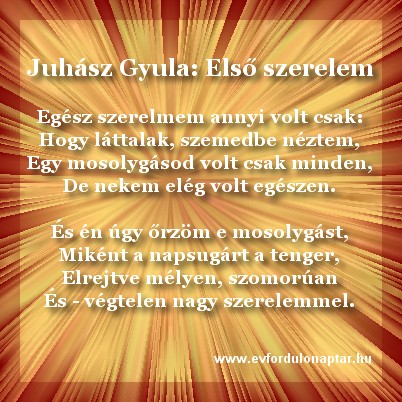Juhász Gyula - Egész szerelmem