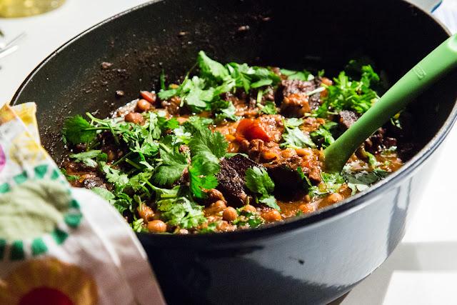 marokkolainen, naudanliha, pata