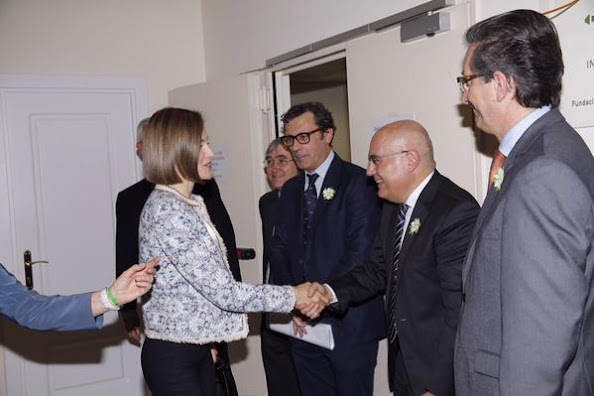 Queen Letizia of Spain attends a meeting at the Spanish Association Against Cancer, AECC