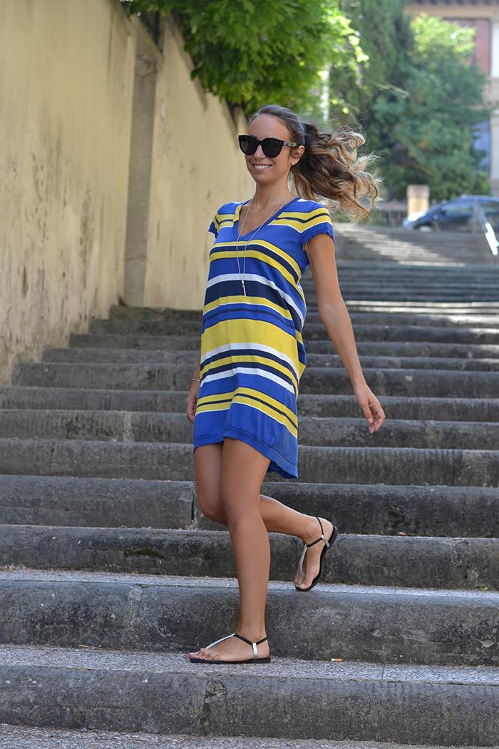 Vestito giallo blu