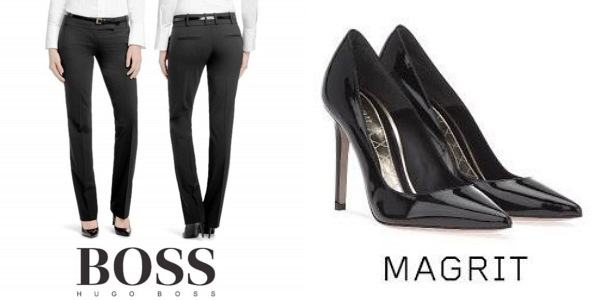Queen Letizia's HUGO BOSS Taru Trousers and MAGRIT Pumps
