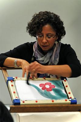 Deborah Younglao silk painting presentation demo