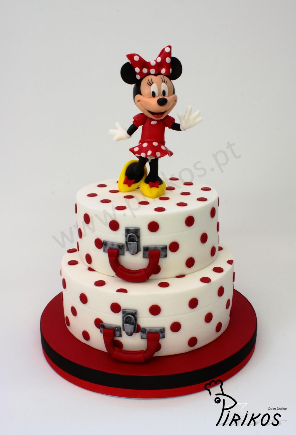 Cake Design Minnie : Pirikos Cake Design: Bolo - Minie 50 s