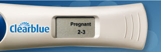 digital E. P. T. Pregnancy Test positive