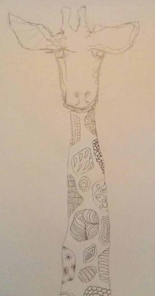 Art Intertwine - Doodle Giraffe