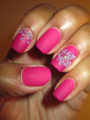 Wet n Wild, Fashionista Lisa, purple, driend flowers, matte, velvet, epilepsy awareness, nails, nail art, nail design, mani