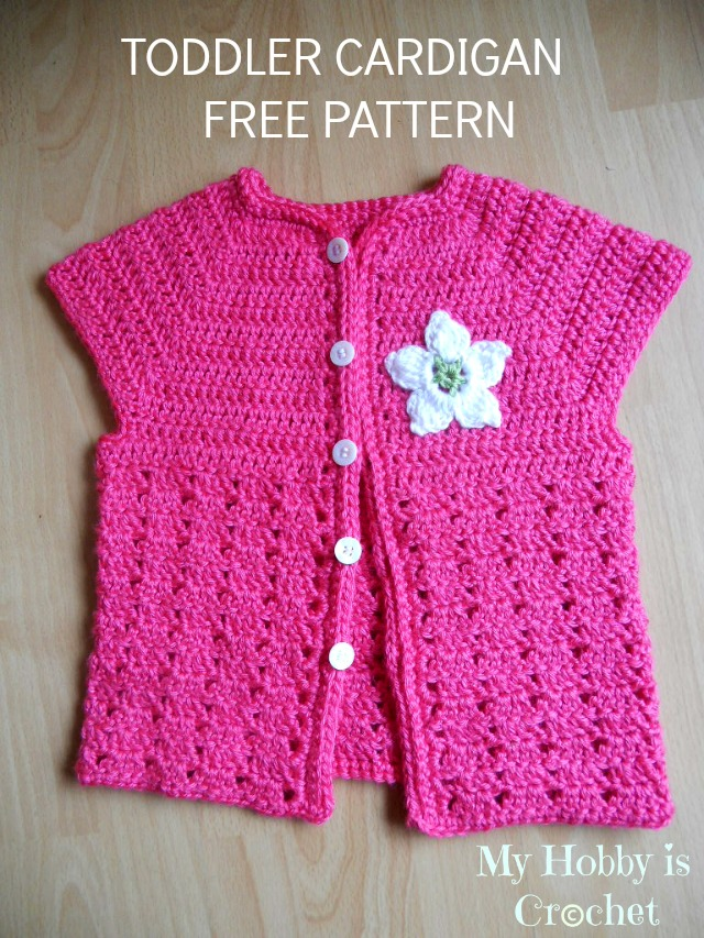 Crochet Baby Girl Cardigan Pattern Free : My Hobby Is Crochet: Toddler Short Sleeved Cardigan Twin ...