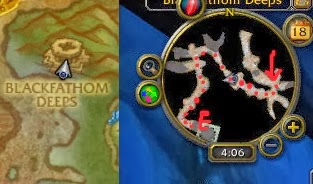 Use the minimap to follow the red dots to the portal to Blackfathom Deeps