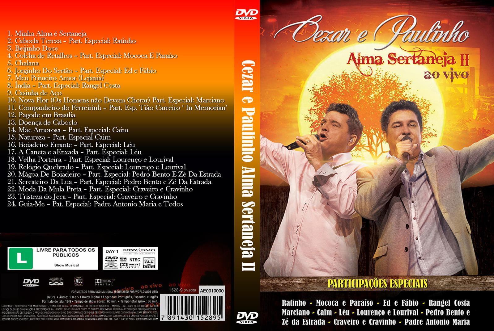 Download Cezar & Paulinho Alma Sertaneja II Ao Vivo DVD-R Cesar 2BE 2BPaulinho 2B  2BAlma 2BSertaneja 2BII 2B  2BAo 2BVivo