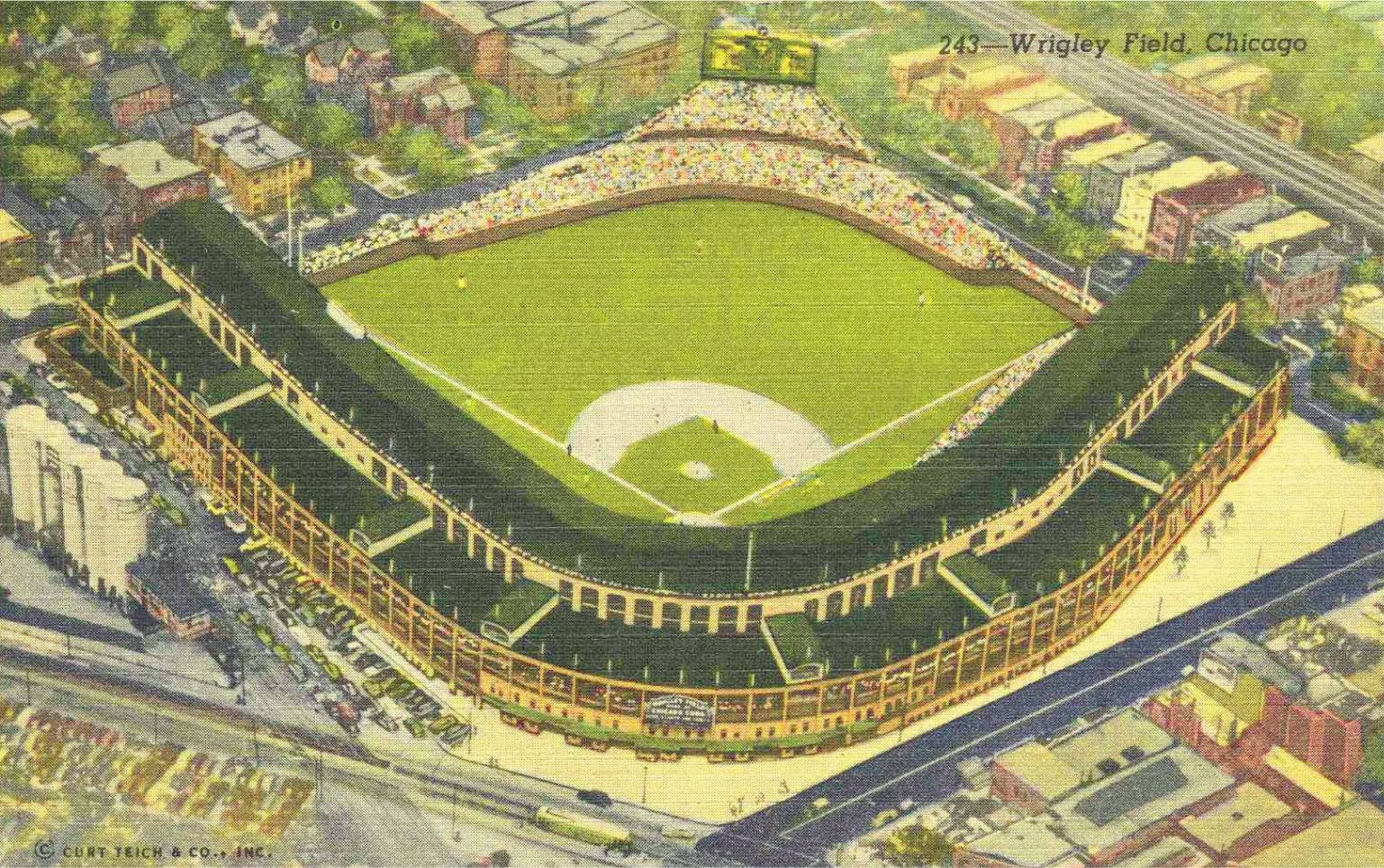 CHICAGO ARGUS Turning Wrigley Field Into A Version Of The Old - Chicago map showing wrigley field