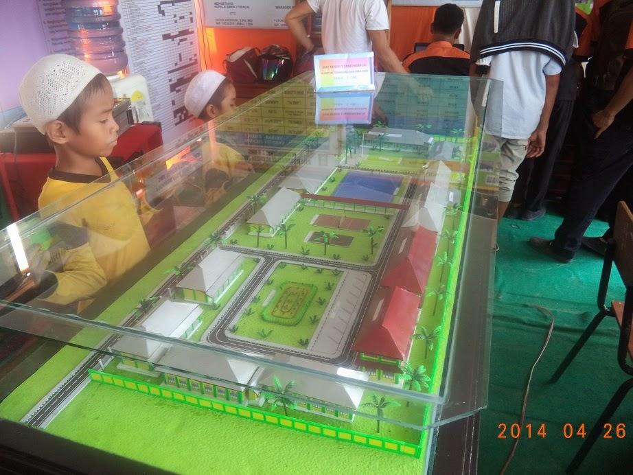 Miniatur gedung SMKN2 Tanjungbalai