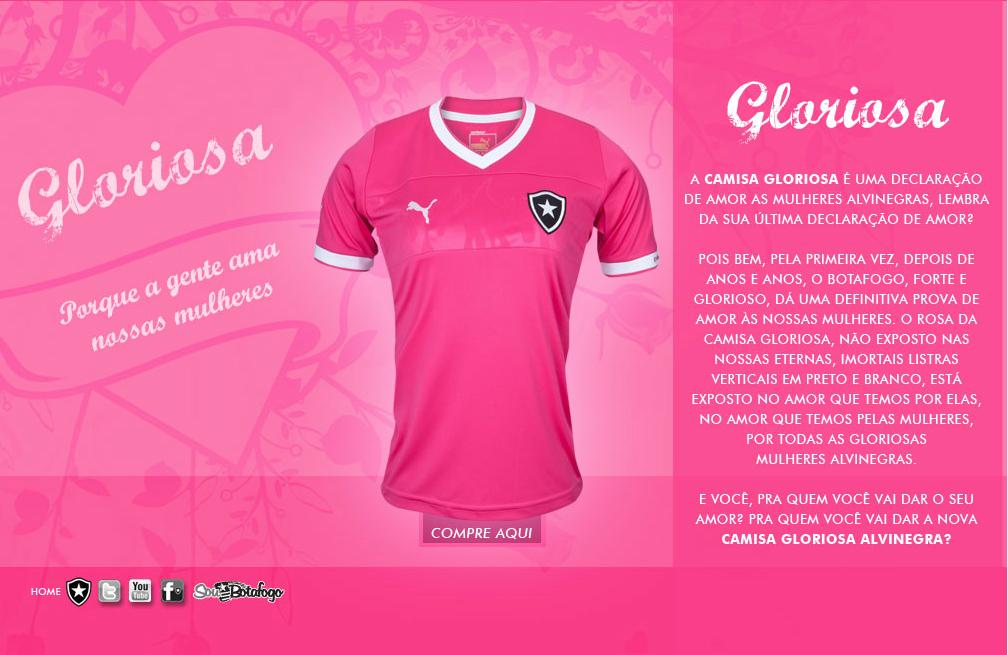 5d5ae545b3 A História dos Uniformes do Botafogo  A Camisa Rosa