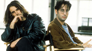 Newman and Baddiel posing in the early 1990s