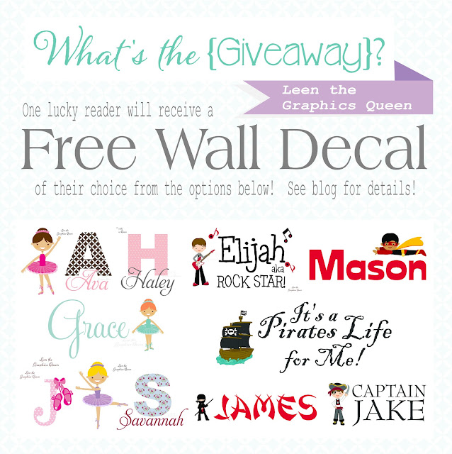 giveaway, wall decal, free decal,