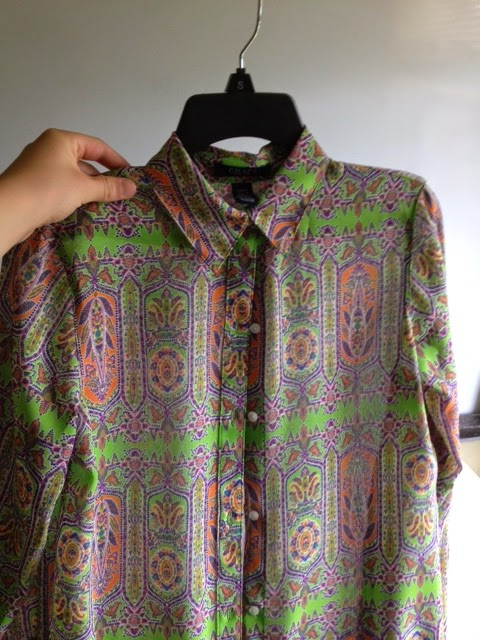 green patterned shirt from kohl's