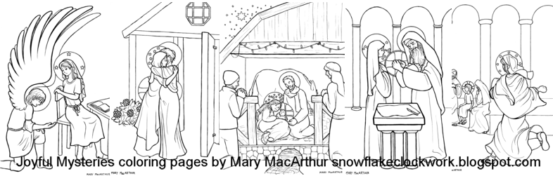 luminous mysteries coloring pages - photo#21