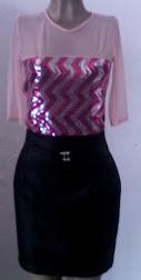 conj de saia e blusa