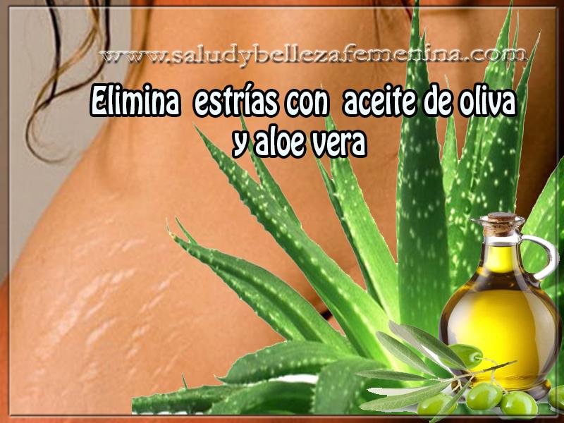 Cuidados del cuerpo, belleza , elimina  estrías con  aceite de oliva  y aloe vera