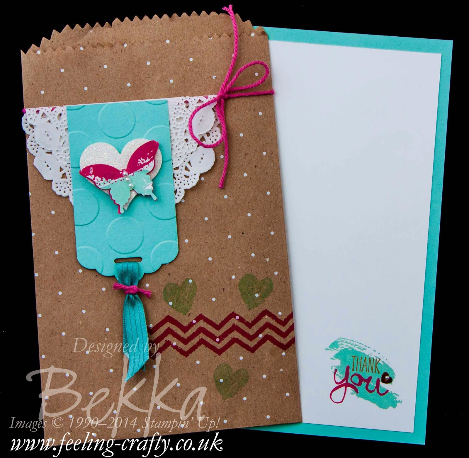 A Special Work of Art Thank You Card made using Stampin' Up! Supplies bu UK Independent Demonstrator Bekka Prideaux