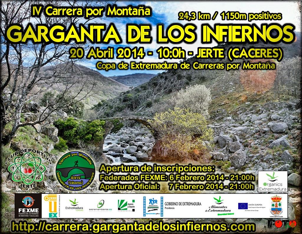 """IV Carrera por Montaña """"Garganta de los Infiernos"""""""
