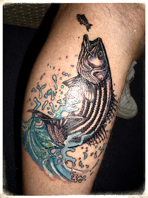 Saltwater fishing tattoos
