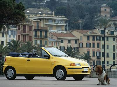 Fiat Punto cabrio S gialla