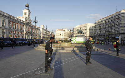 Puerta del Sol, Madrid, Portugal Spain, Spanish, Police, Brutality, Against, Peaceful, Protesters, Photos, Fascist, NWO