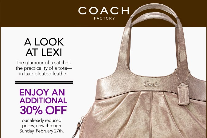 Coach factory coupons august 2018