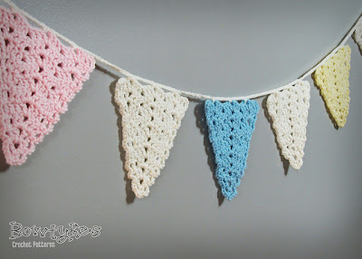 free crochet pattern lacy bunting