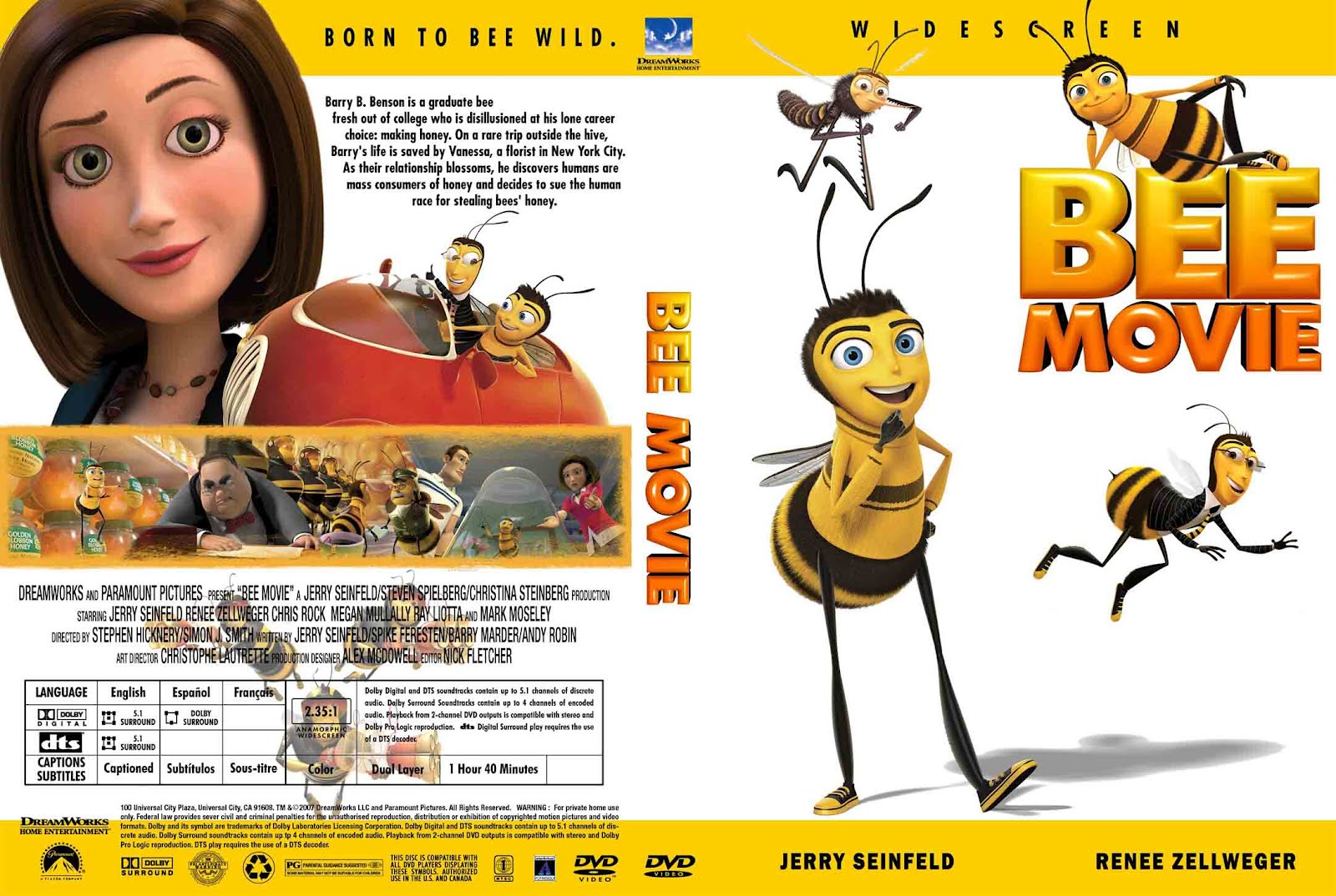 Bee Movie Cover Bee movie (2007)