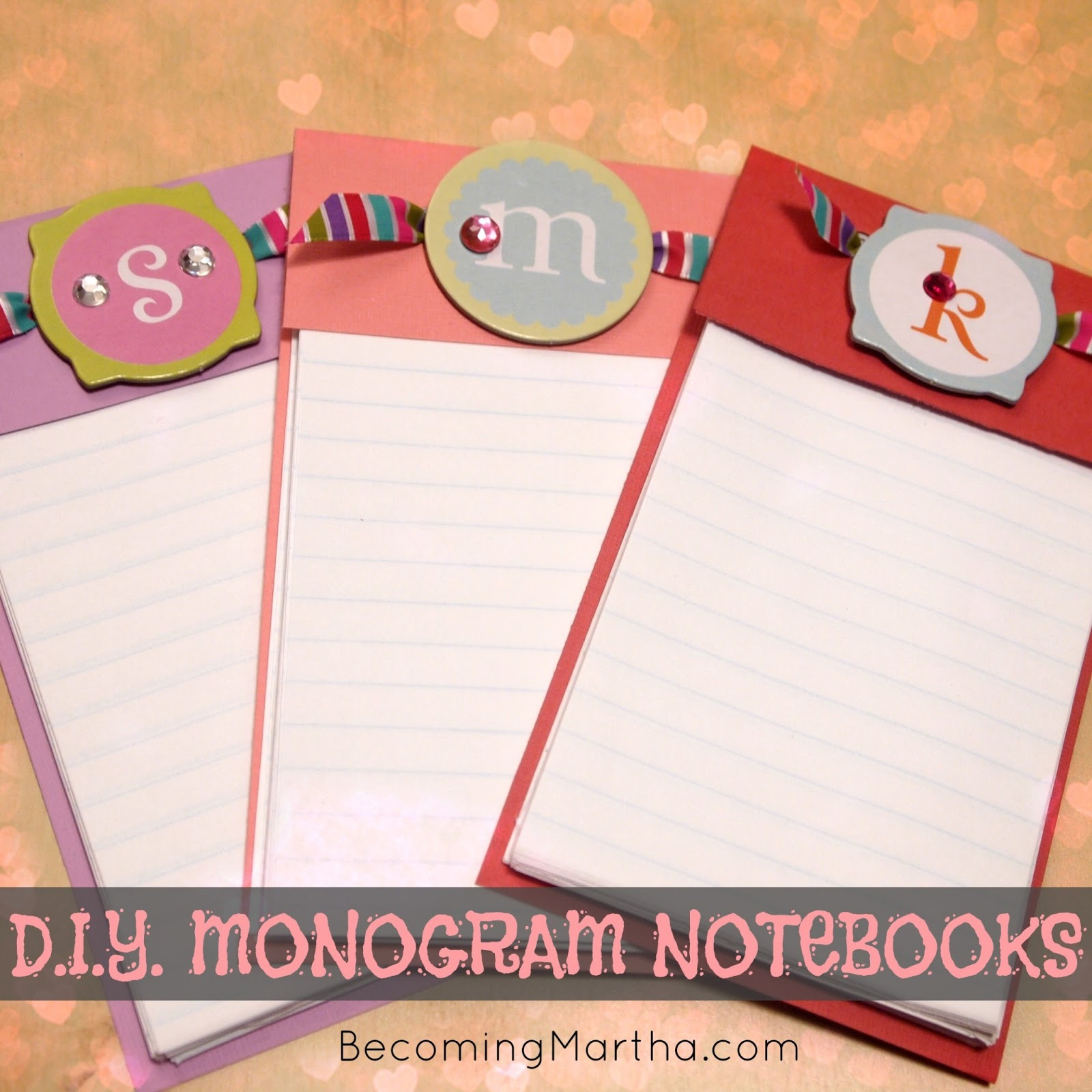 Diy monogram notebooks valentine 39 s gift the simply for Diy monogram gifts