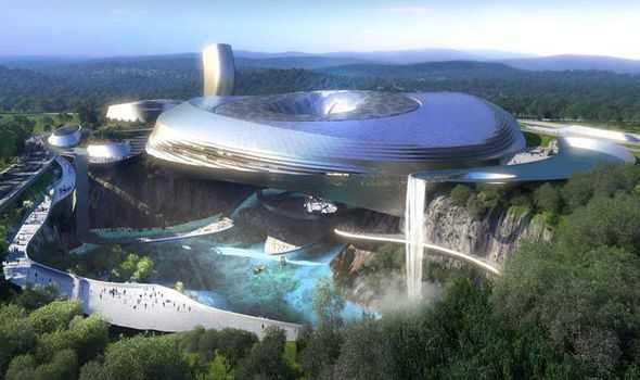 China Turns Abandoned Quarry Into Futuristic Luxury Mountain Resort